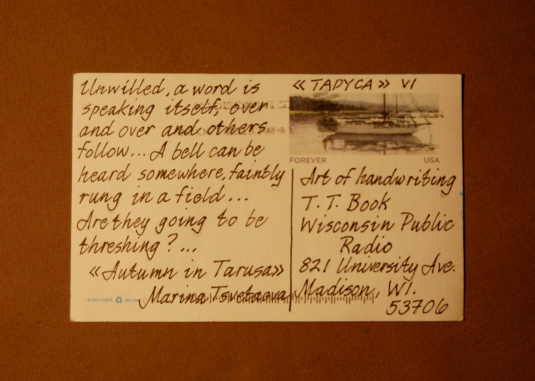Autumn in Taurus 2 (English) - Postcard 6, Side A