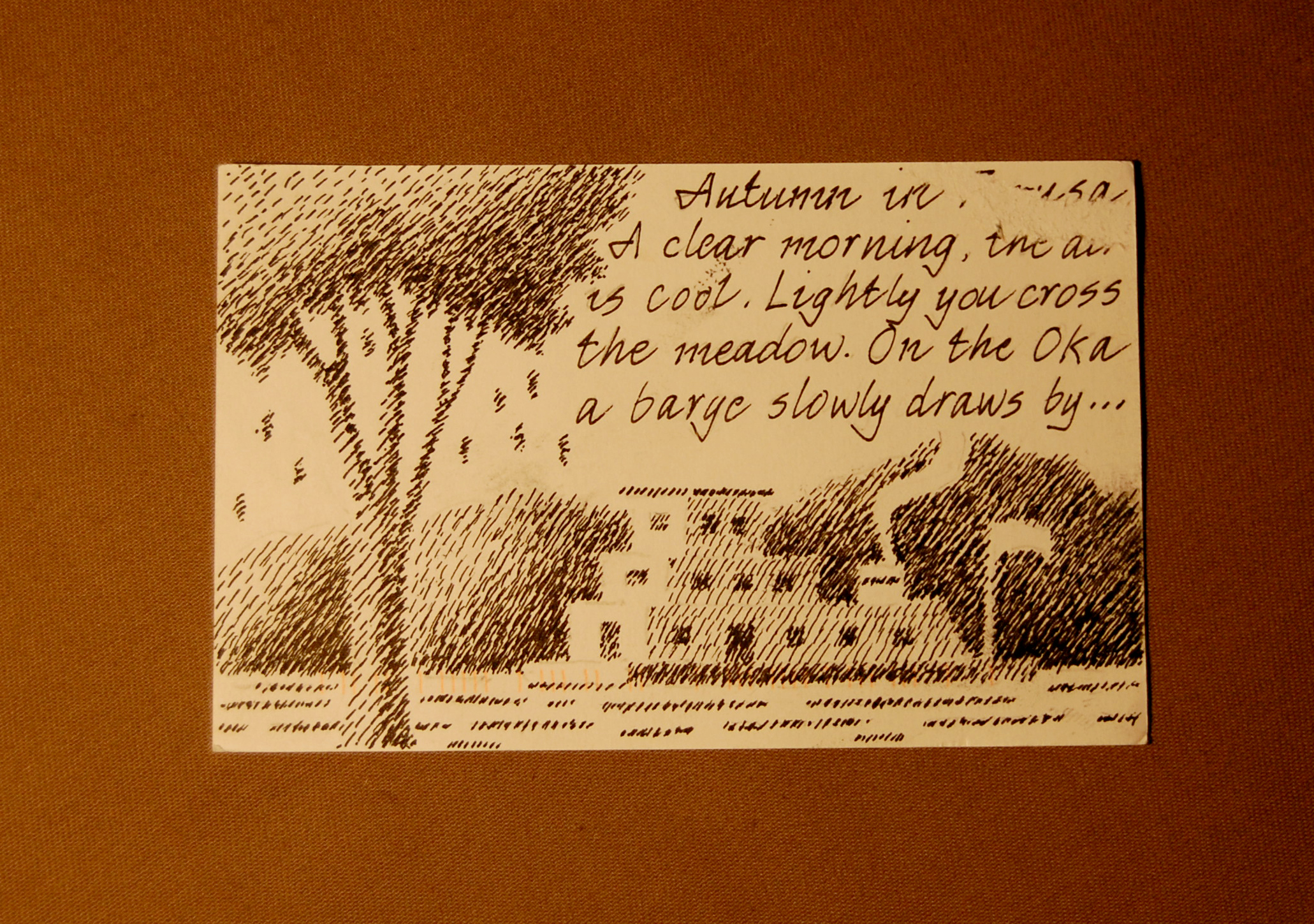 Autumn in Taurus 1 (English) - Postcard 4, Side B