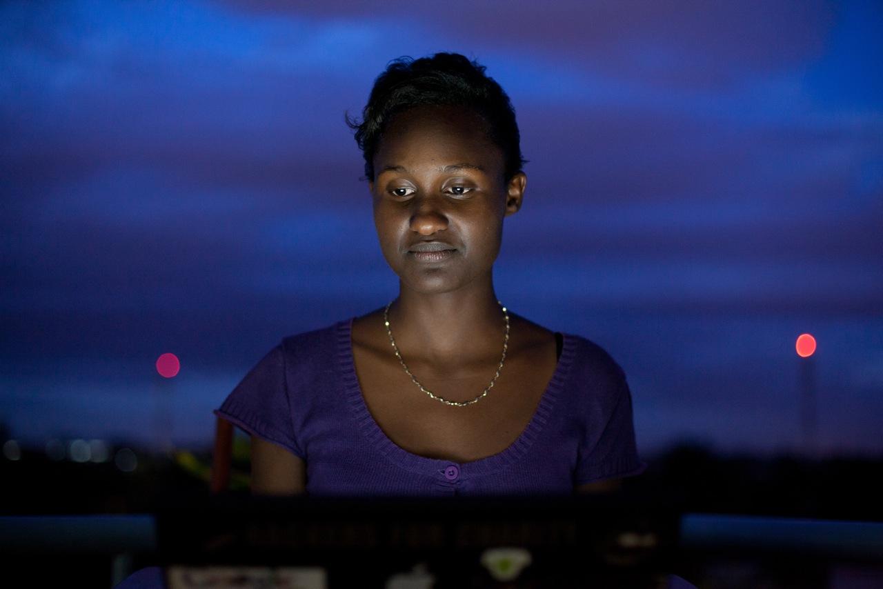 Linda Kwamboka, one of Nairobi's tech pioneers. Image:brenanbannon.com