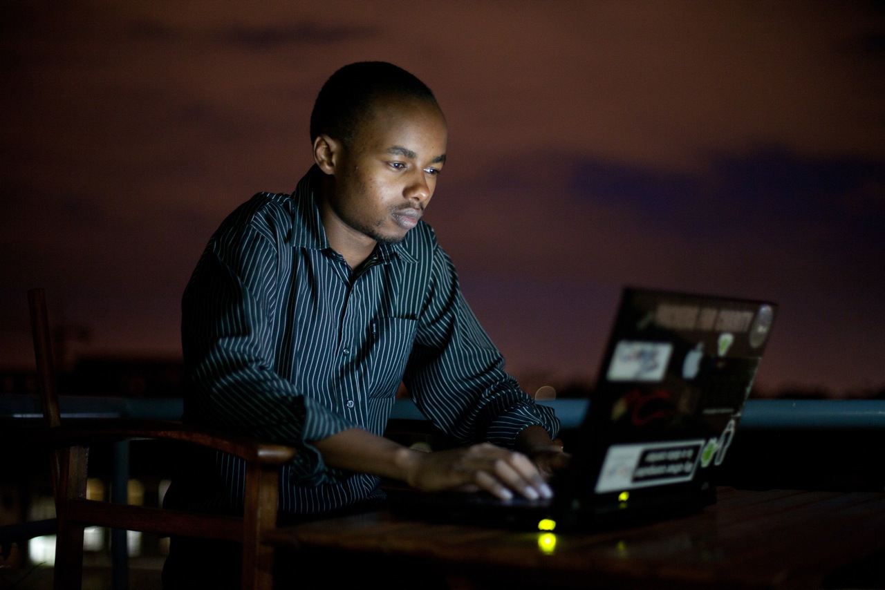 "Tech pioneer Sammy Njoroge: ""mobile phone applications are the king here."" Image:brendanbannon.com"