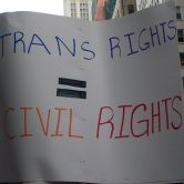 "sign reading ""Trans Rights equals Civil Rights"""