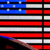 illuminated American flag art