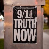 "Handbill with caption: ""9/11 Truth Now"""