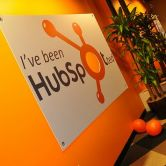 HubSpot sign in office lobby