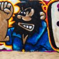 Graffiti art of Bluto from Popeye