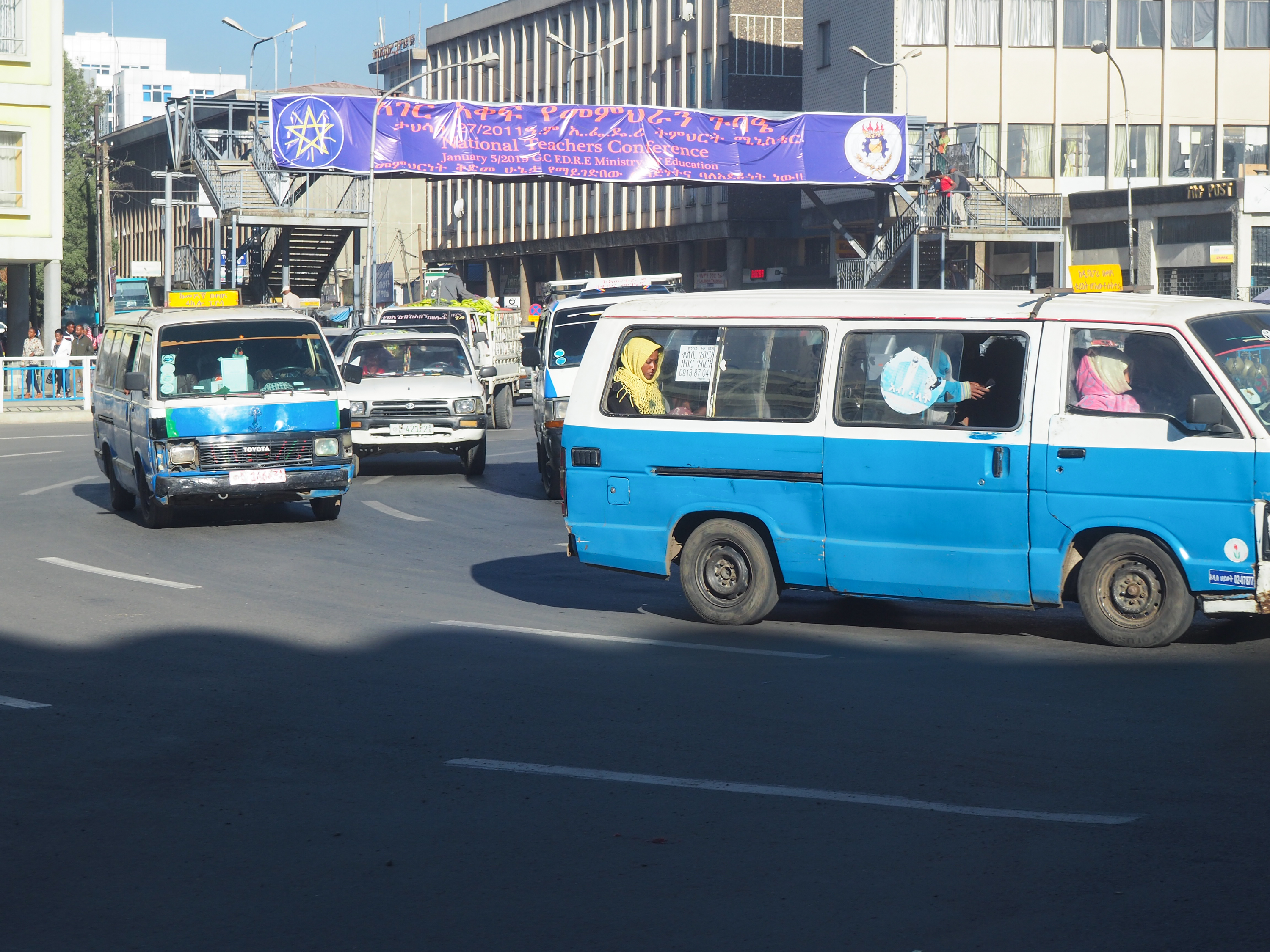 Driving in Addis is not for the timid. Traffic rules -- and lanes-- are more like guidelines.