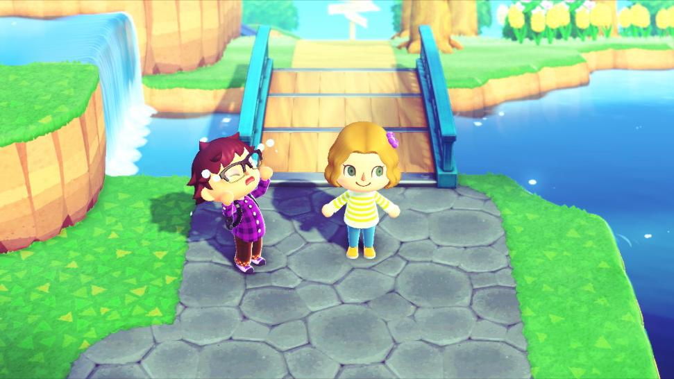 Anne insults Mark's choice of bridge.<em> Nintendo/Mark Riechers (TTBOOK)</em>