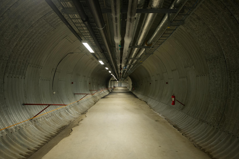 "Underground at the Svalbard Global Seed Vault. <a href=""http://ttps://www.flickr.com/photos/croptrust/albums/72157667973253302""><em>Global Crop Diversity Trust (CC BY-NC-SA 2.0)</em></a>"