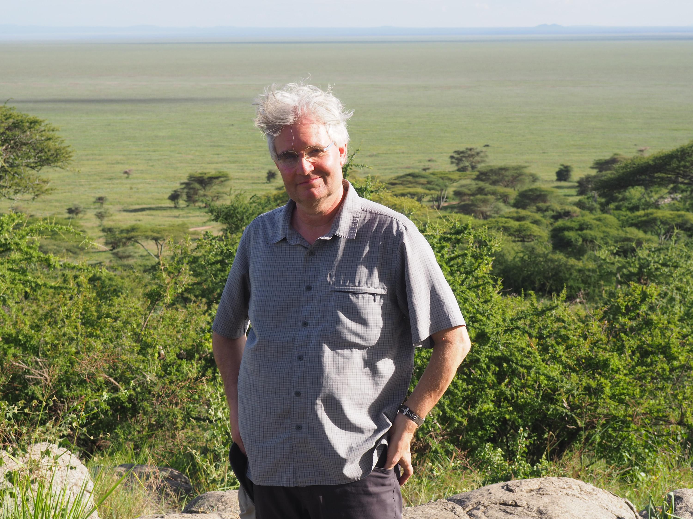 Steve standing above the Ngorongoro Crater. <em>Steve Paulson (TTBOOK)</em>&nbsp;