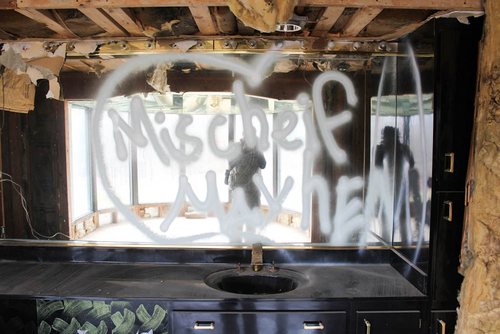 Teenagers have had a field day in Mike Tyson's abandoned mansion in Southington, Ohio. <em>Seth Jovaag (TTBOOK)</em>