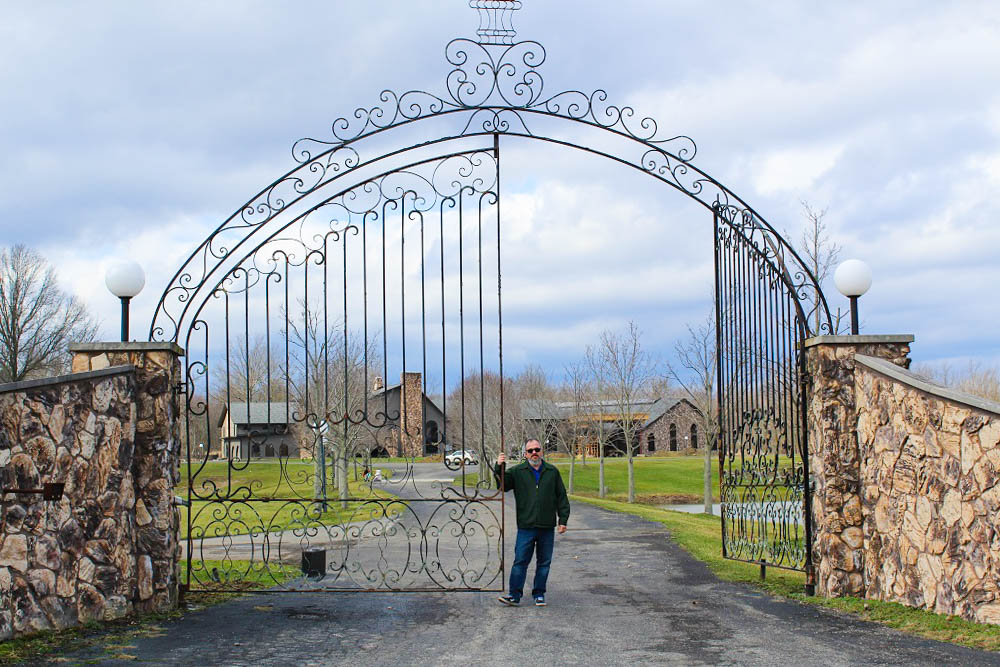 """The words """"Mike"""" and """"Tyson"""" from the front gate were the first things removed. The Living Word Sanctuary Evangelical Church plans to open their new church in November2017.<em>Seth Jovaag (TTBOOK)</em>"""