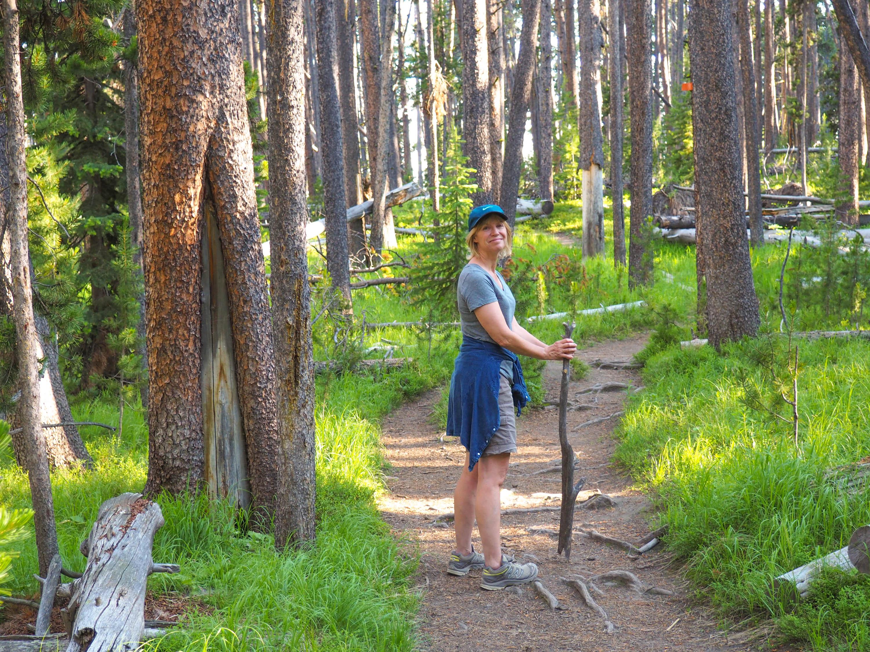 Anne hiking in Yellowstone. <em>Steve Paulson (TTBOOK)</em>