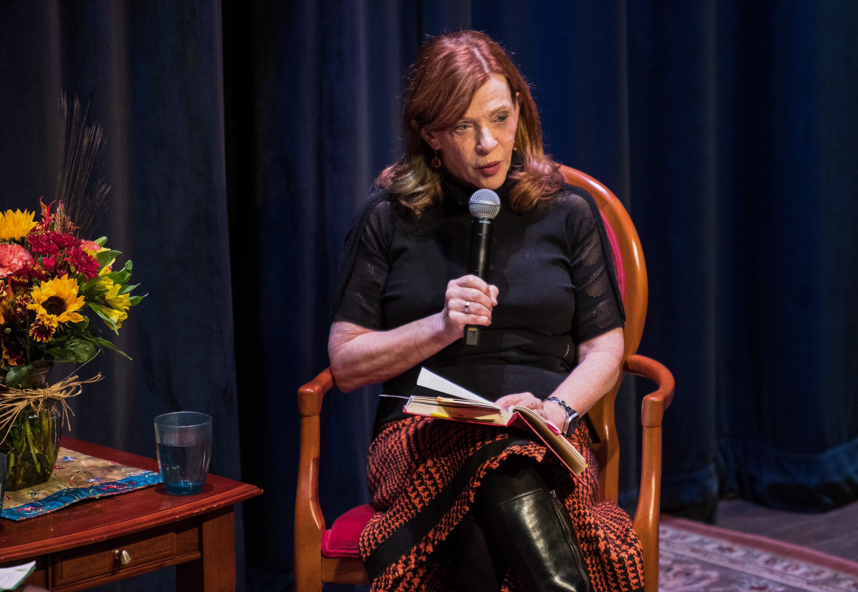 """The Library"" author Susan Orlean live on stage at the National Writers Series in Traverse City, Michigan.<em> Tom Haxby/National Writers Series&nbsp;</em>"