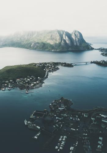 The Lofoten islands in Norway. A reputation for beautiful, romantic beaches has led to the small islands being overrun with tourists.