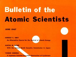 The original 1947 cover of the Bulletin of the Atomic Scientists