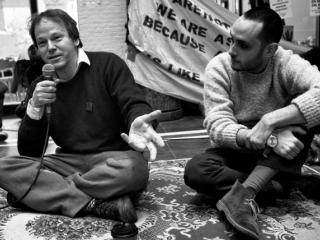David Graeber speaks at Maagdenhuis occupation