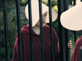 "Elisabeth Moss in Hulu's ""The Handmaid's Tale"""
