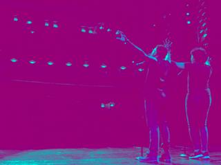 Teens on stage