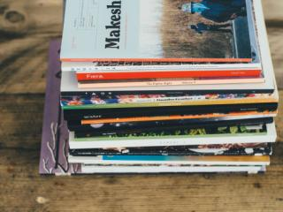 Magazines on coffee table