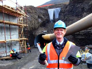 Cary Fowler during the seed vault's construction