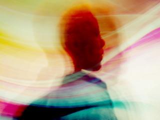 woman in wispy colors