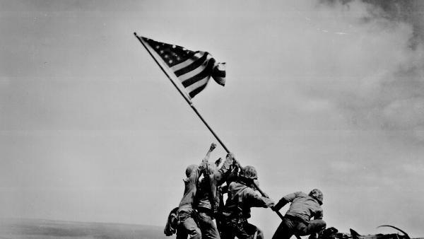 Photograph of Flag Raising on Iwo Jima, 02/23/1945, National Archives