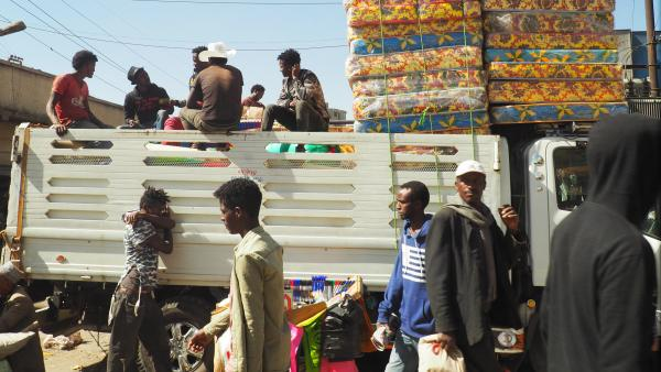 A moment on the street in Addis Ababa.