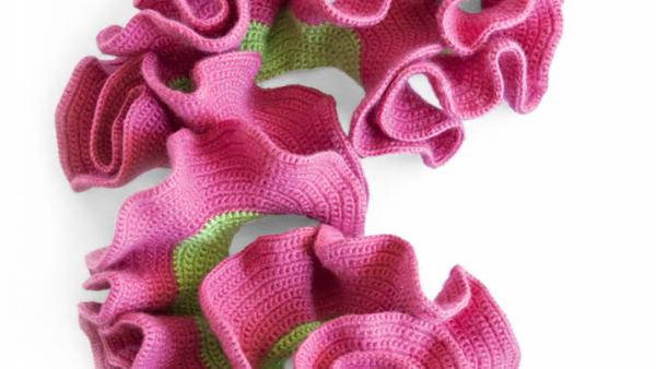 """Crochet hyperbolic plane (by Anitra Menning), from the """"Crochet Coral Reef"""" project by Christine and Margaret Wertheim and the Institute For Figuring."""