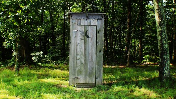 An outhouse. For pooping.
