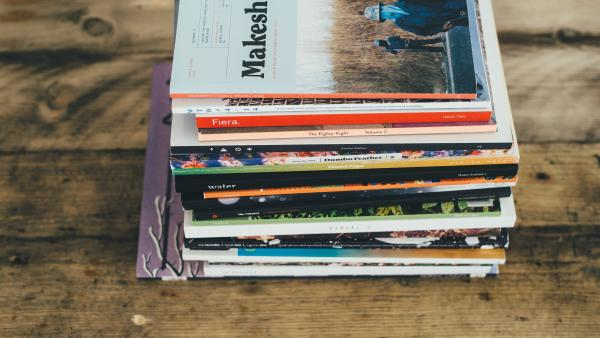 Magazines on coffee table