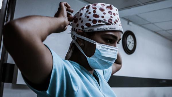 A hospital staffer