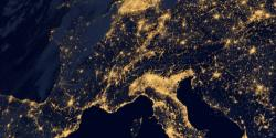 Satellite image of Europe