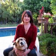 Merrill Markoe with dog
