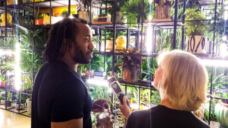 Rashid Johnson and Anne Strainchamps