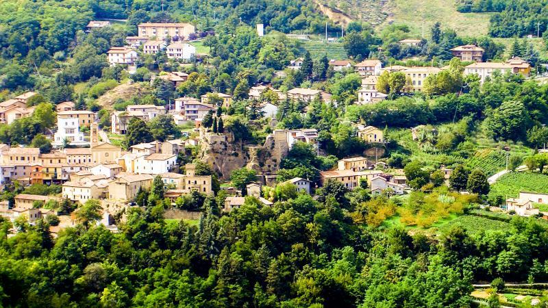 The hillside of Predappio.