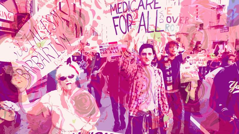 A Medicare for all rally