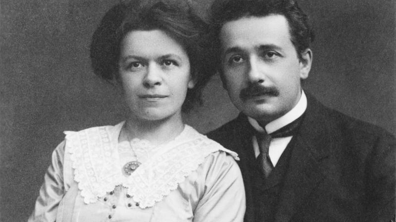 Mileva Marić-Einstein and Albert Einstein, 1912
