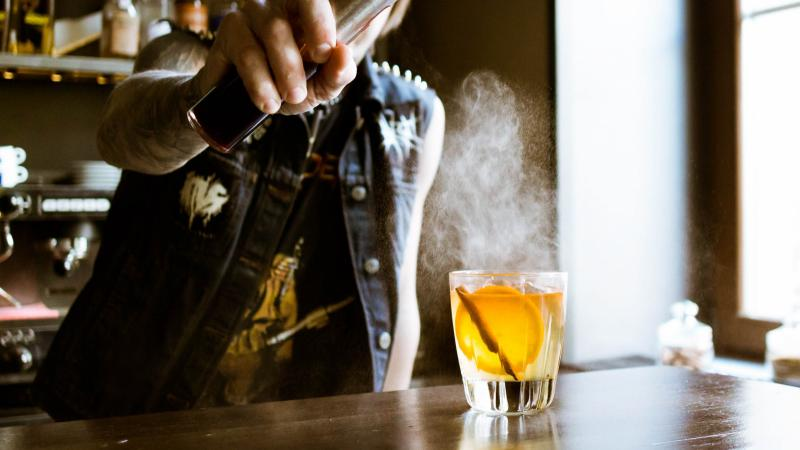 A whiskey drink