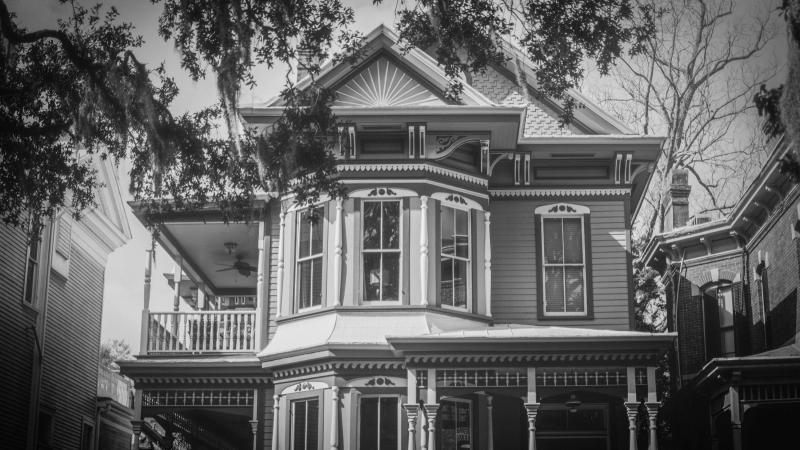 A house in Savannah, Georgia — one of America's most haunted cities.