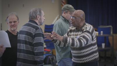 Veterans in an acting class