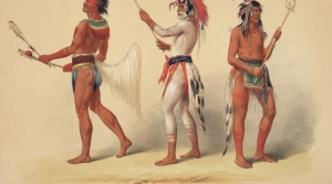 George Catlin's painting of Lacrosse players