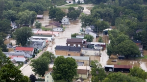 Gay Mills flooding in 2007