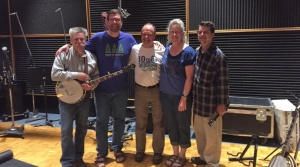 Photo of host Dan Robinson with the band High Water