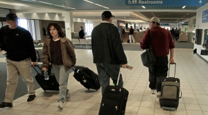People walking in an airport
