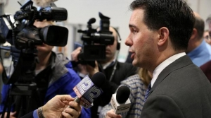 Gov. Scott Walker at a press conference