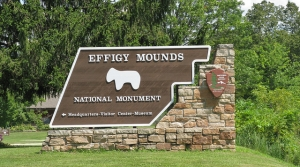 Effigy Mounds National Monument sign