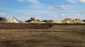 frac sand mine site