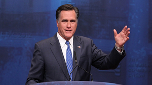 Mitt Romney speaking at the 2012 Conservative Political Action Conference.