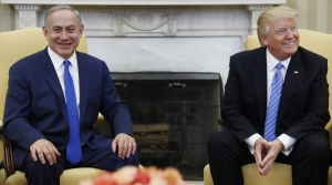 Benjamin Netanyahu, Donald Trump in the Oval Office