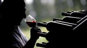 Person tasting wine